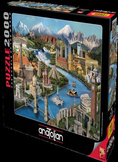 Anatolian  2000 Parça Simge Yerler 3941 Renkli